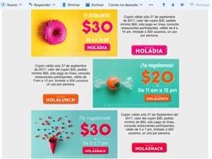 Sin Delantal: cupón de $30 válido solo el 27 de septiembre