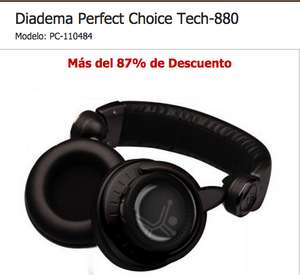 Intelcompras: Diadema Perfect Choice Tech-880 de $607 a $147 con envío