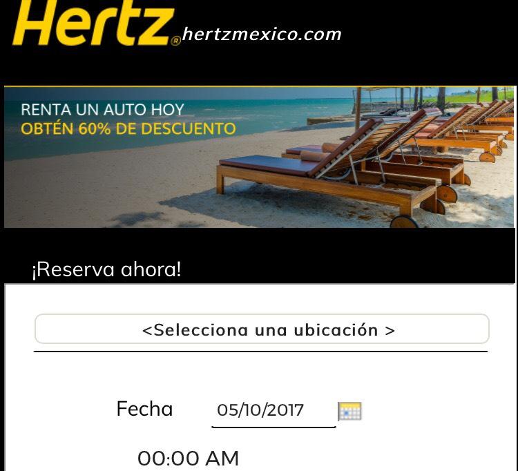 Hertz: dcto. 60%, incluye promonovela