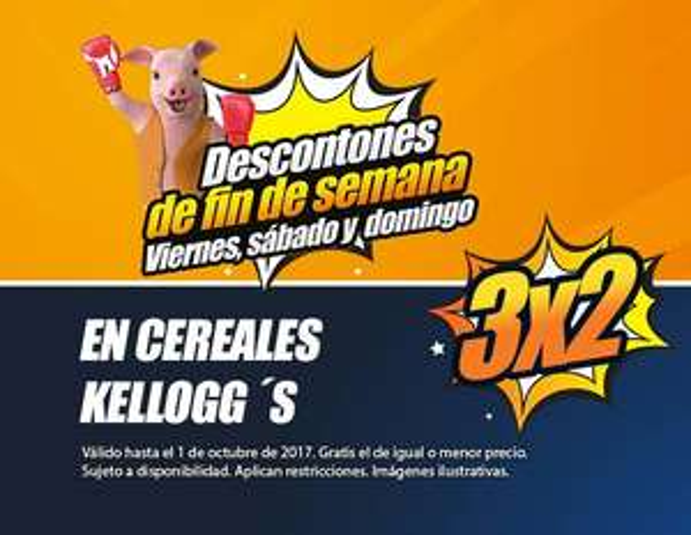 Chedraui: 3X2 En cereales kelloggs