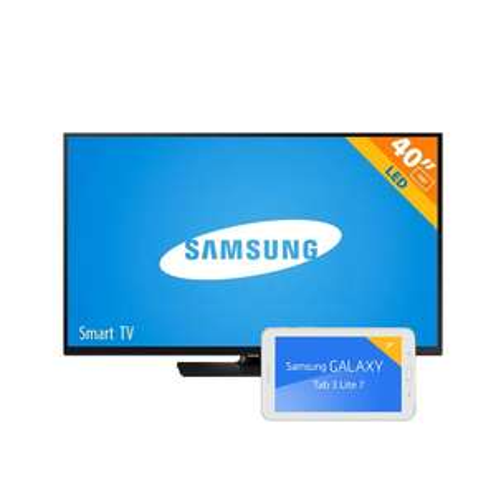 "Walmart: Pantalla LED 40"" Samsung 1080p FHD Smart + Tablet Samsung Galaxy Tab 3 Lite"