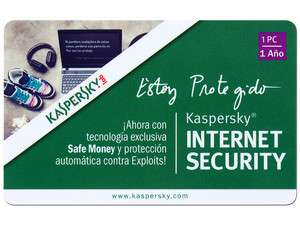 PCEL: Kaspersky Internet Security 2013, 1 PC, 1 Año $99