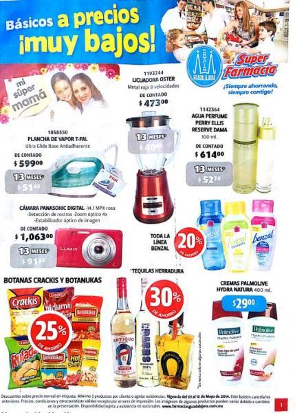 Folleto de ofertas Farmacias Guadalajara del 1 al 15 de mayo 2014