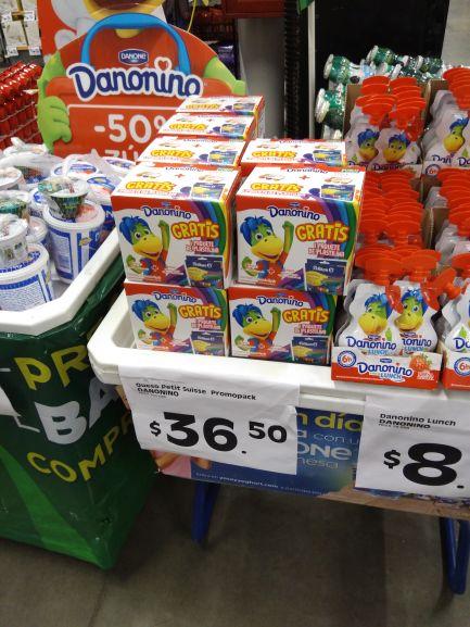 Comercial Mexicana: paquete de 12 danonino con plastilina gratis en 36.50