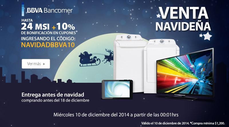 Walmart venta navideña: 10% de descuento y 24 MSI con Bancomer diciembre 10