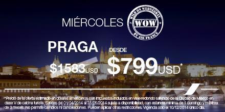 Air France promo Wow: vuelo redondo a Praga desde $799 dólares