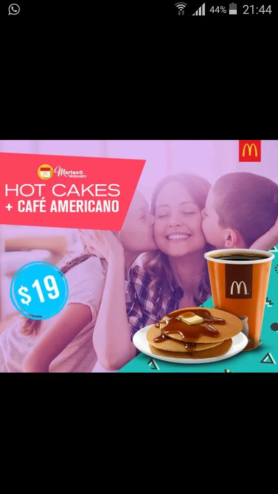 McDonald's: hot cakes+cafe
