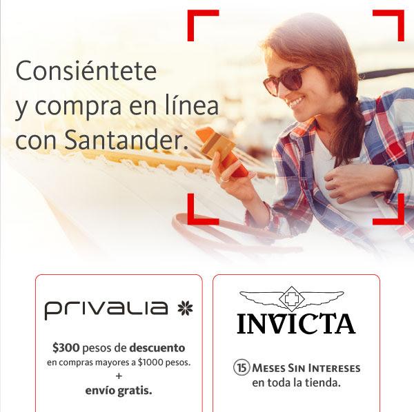 Privalia: $300 de descuento al pagar con Santander + envio gratis