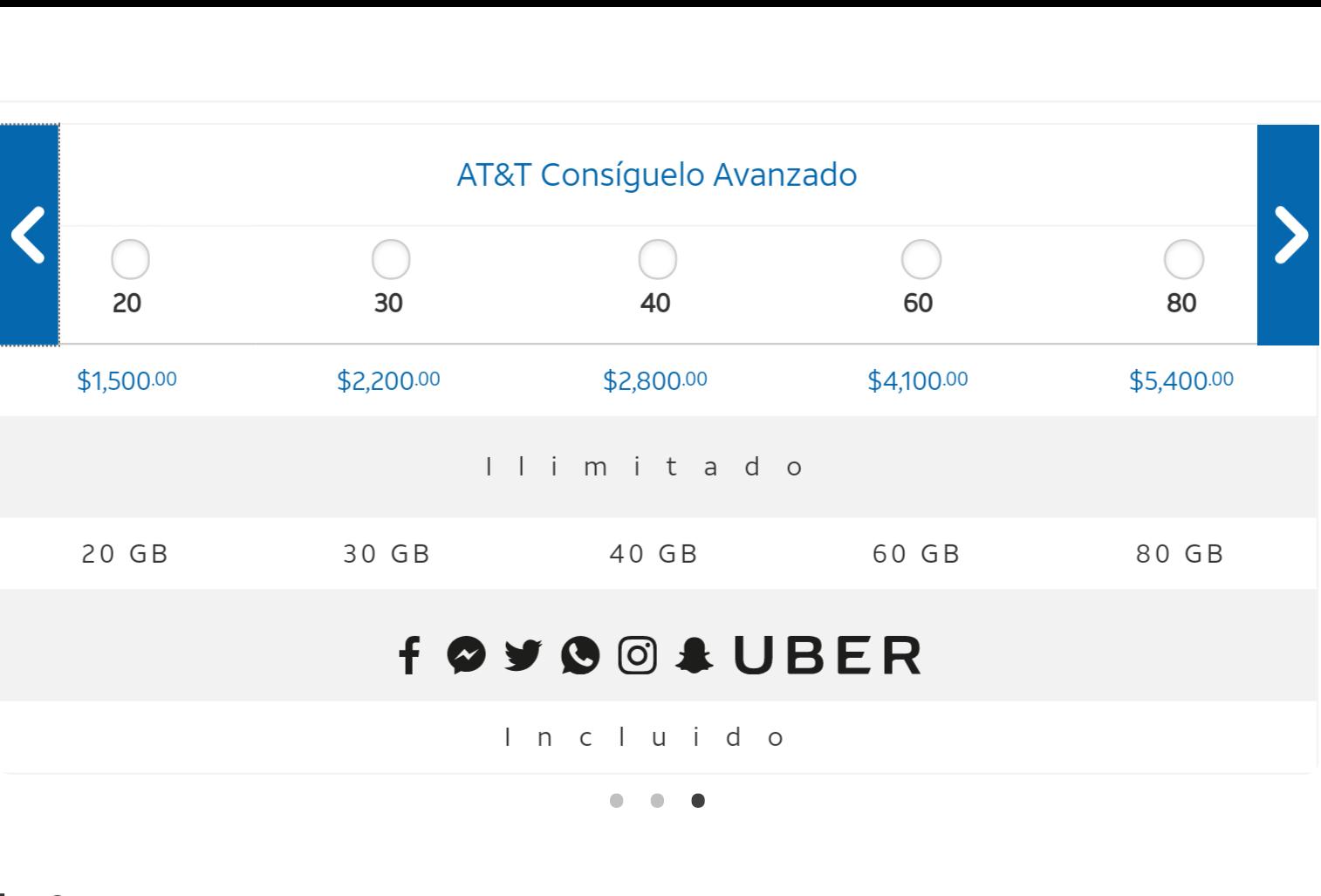 AT&T: Plan con 20GB y Redes Sociales Ilimitadas