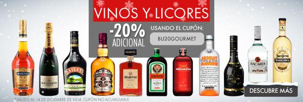 Linio: Cupón 20% descuento adicional vinos y licores
