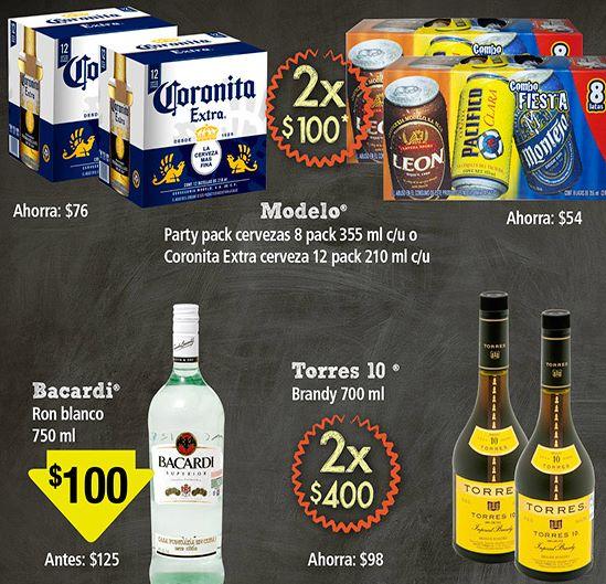 Superama: 2 paquetes cerveza Combo Fiesta (16 cervezas) o 24 Coronitas por $100