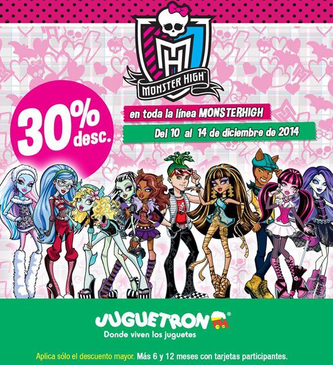 Juguetron: 30% de descuento en todo Monster High