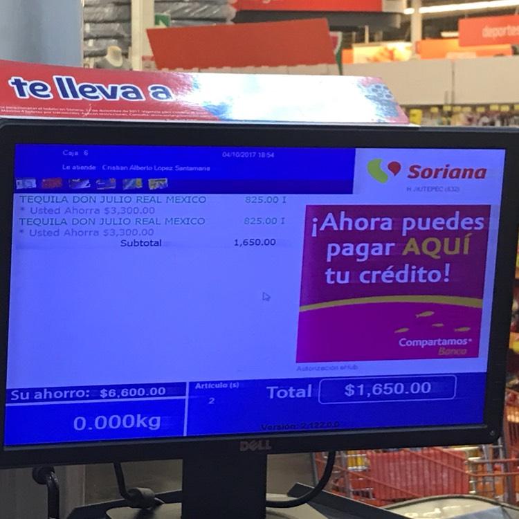 Soriana: Tequila don julio real Mexico con $3,300 pesos de ahorro!
