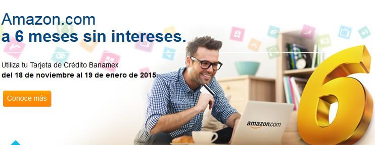 Amazon 6 Meses Sin Intereses con Banamex (pagando $250)