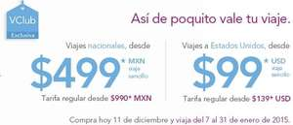Volaris: vuelos desde $499 nacionales y $99 dólares con VClub