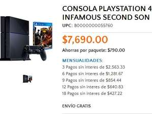 Walmart: PlayStation 4 con Infamous Second Son $6,921 con American Express