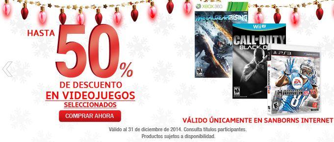 Sanborns: Hasta 50% en videojuegos seleccionados + Envio gratis HOY. Ejemplo: Call Of Duty: Black Ops II wii u $569