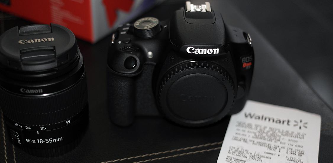 Walmart: cámara profesional Canon Rebel t5 en remate en tienda fisica