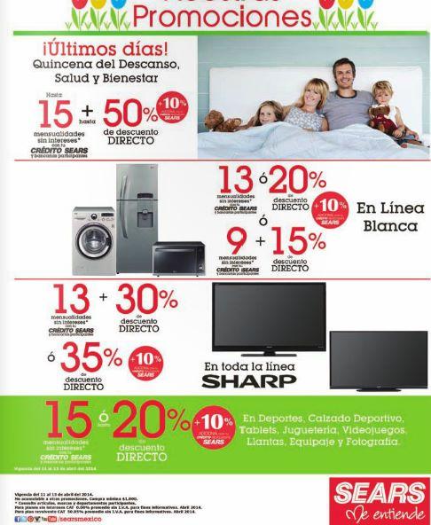 Sears: promociones en pantallas, ropa, línea blanca, PS3 y más