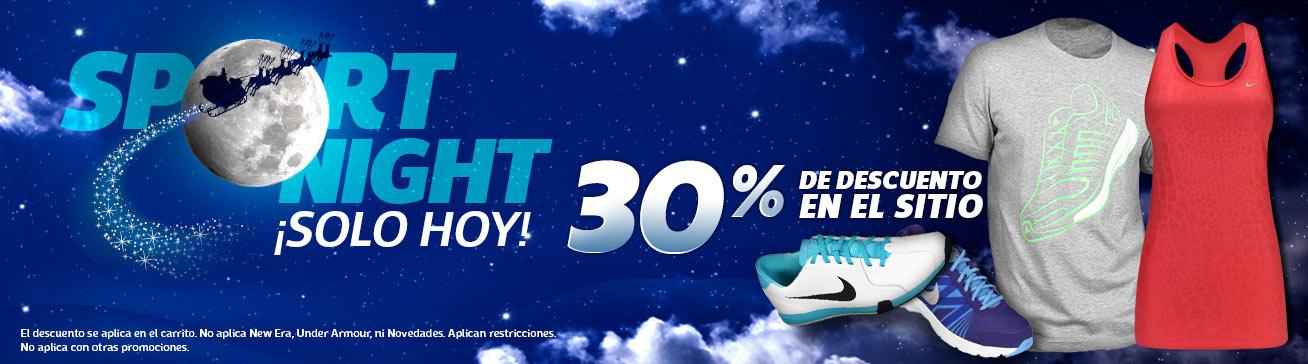 Netshoes: sport night 30% de descuento en toda la tienda