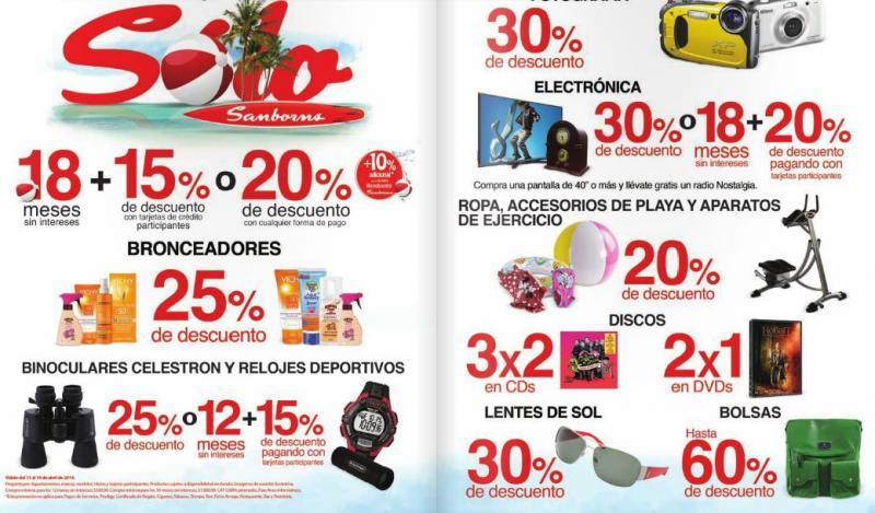 Sanborns: 2x1 en DVDs, 3x2 en CDs, 30% de descuento en fotografía, electrónica y más