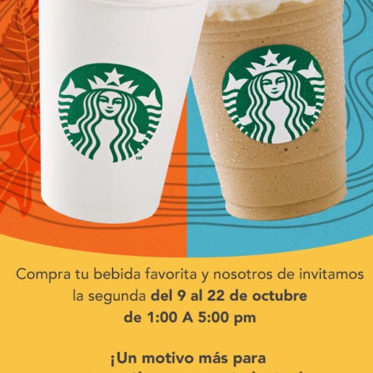 Starbucks: 2x1 para miembros Gold de Rewards