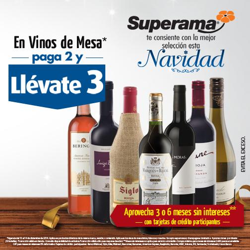 Superama: 3x2 en vinos de mesa (y siguen las cervezas en promoción)