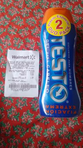 "Walmart Gel para cabello ""Testo"" Duo Pack 400mL c/u $10"
