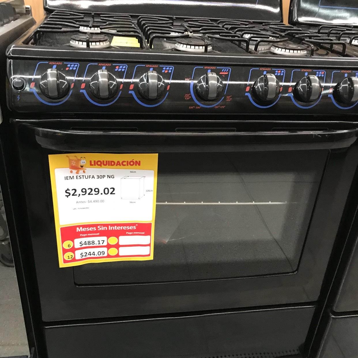 Walmart: Estufa iem $2,929.02