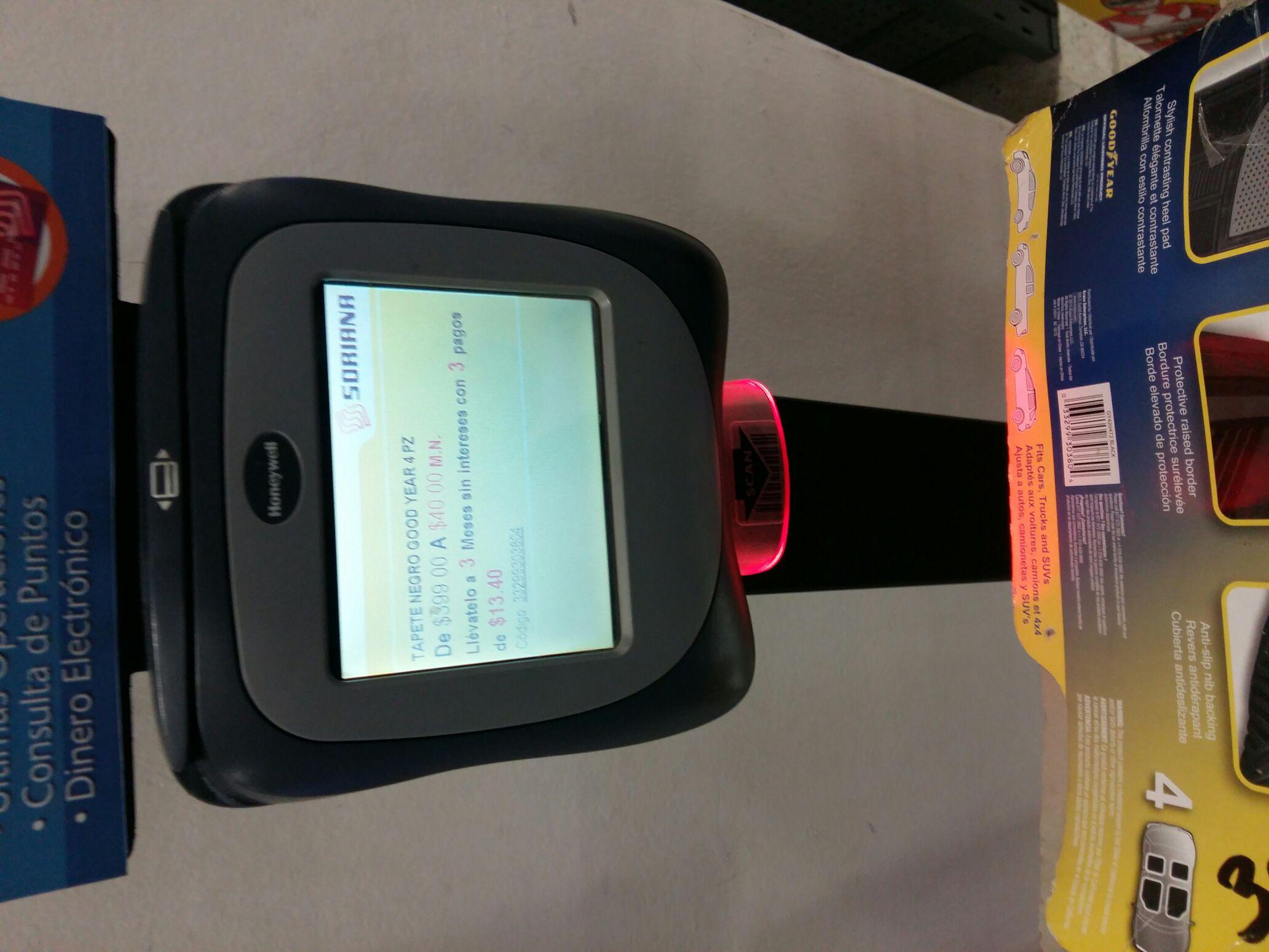 Soriana: Tapetes para auto marca Goodyear a $40 pesos