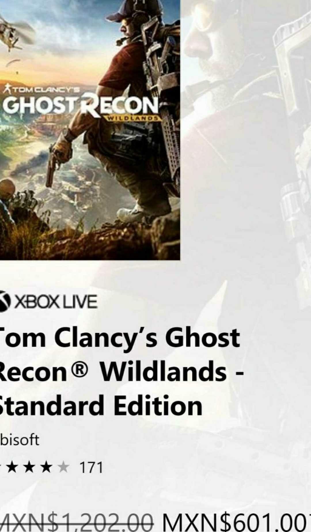 Microsoft Store: Tom Clancy's Ghost Recon® Wildlands Las 3 ediciones en descuento para Xbox One. (5 horas gratis de prueba)