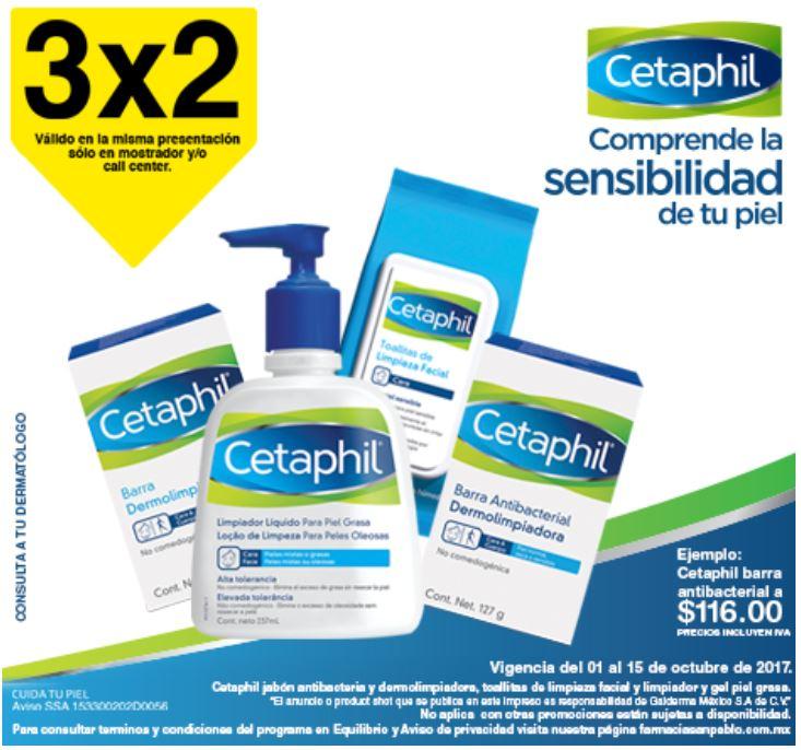 Farmacias San Pablo:  3x2 Cetaphil