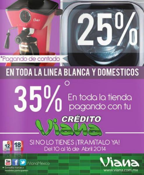 Viana: 25% de descuento en toda la tienda