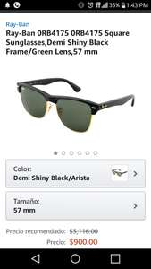 Amazon. Ray-Ban Clubmaster aplica Prime 0RB4175 0RB4175