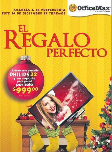 "OfficeMax venta especial 16 de diciembre: pantalla 32"" a $999 con compra mínima"