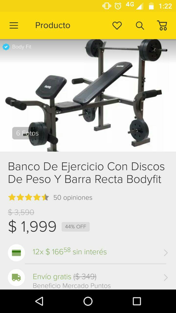 Tiena Oficial Body Fit en Mercadolibre: banco con pesas