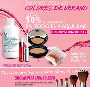 The Body Shop: 50% de descuento en maquillaje