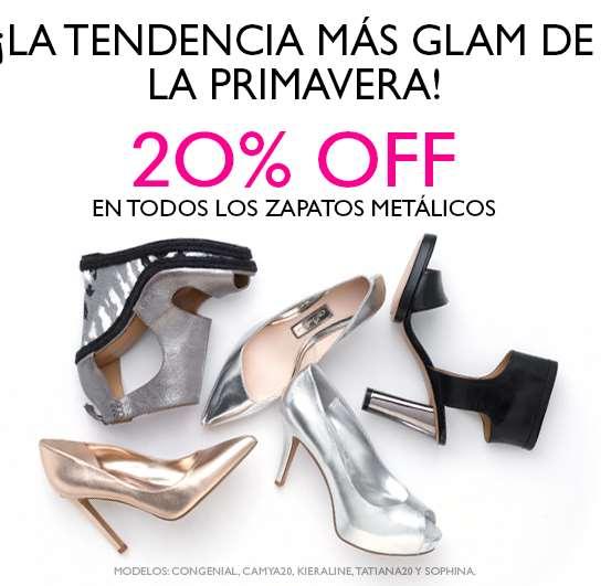 Nine West: 20% de descuento en zapatos metálicos