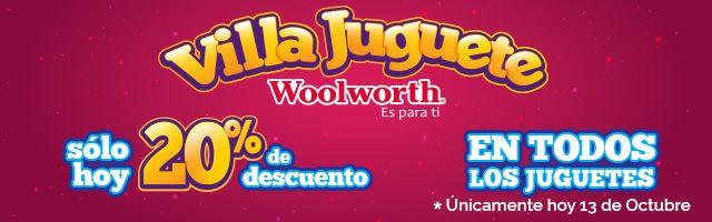 Woolworth: 20% de descuento en todos los juguetes SOLO HOY 13 de octubre