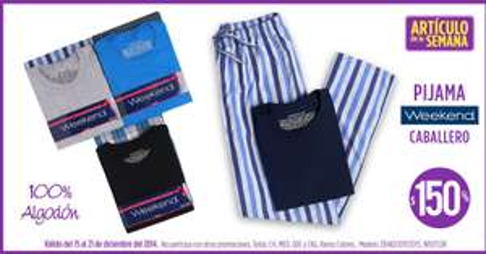 Artículo de la semana Suburbia: pijama para hombre $150