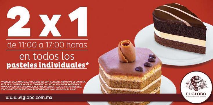 Pastelerías El Globo: 2x1 en pasteles individuales y en todas las bebidas