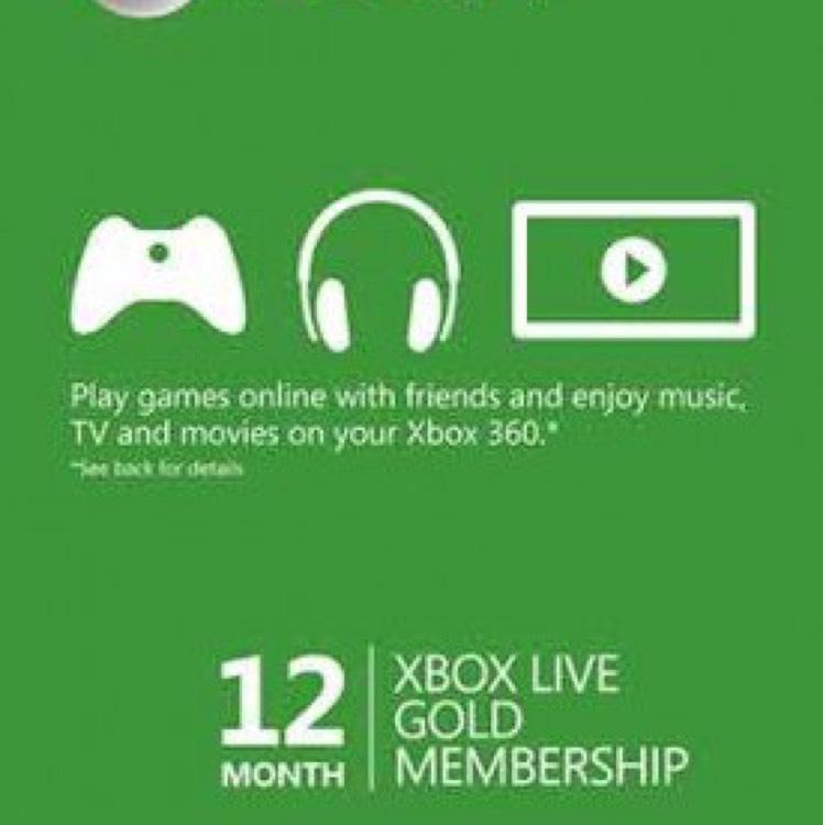 gamesdeal.com: Xbox Live gold 12 meses código digital