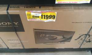 "HEB: Televisión LED Smart TV Sony Bravia de 42"" $6,999"