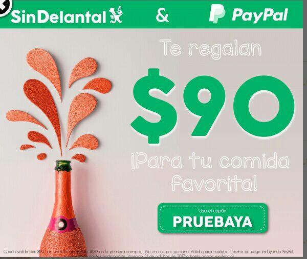 SinDelantal: cupón de $90 para nuevos usuarios
