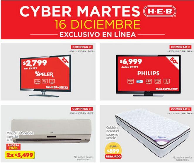 """Cyber Martes HEB: LED Smart TV Phillips de 50"""" $6,999 y más en tienda online"""