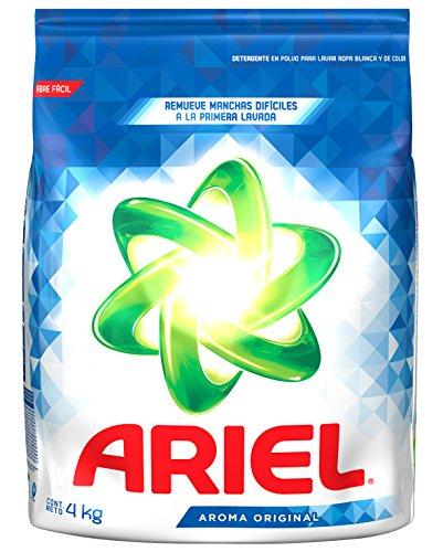 Amazon: Ariel Detergente en Polvo Aroma Original, bolsa de 4 kg  ($59 al comprar más de 4)