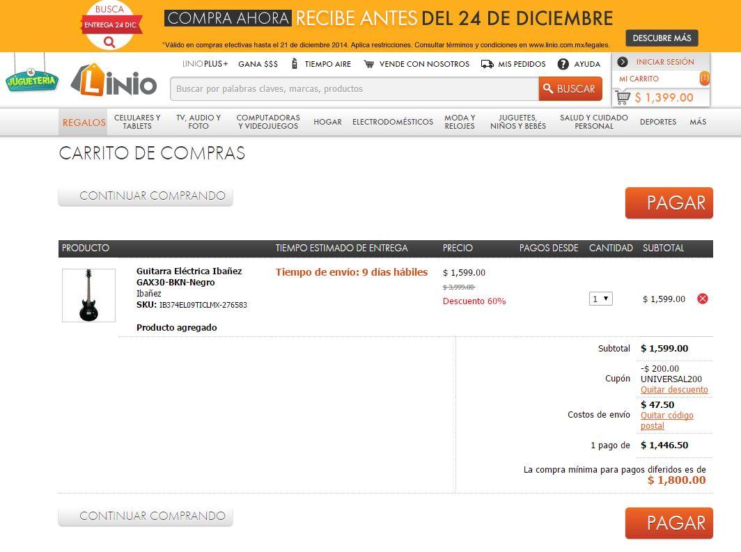 Linio: Guitarra Eléctrica Ibañez GAX30-BKN