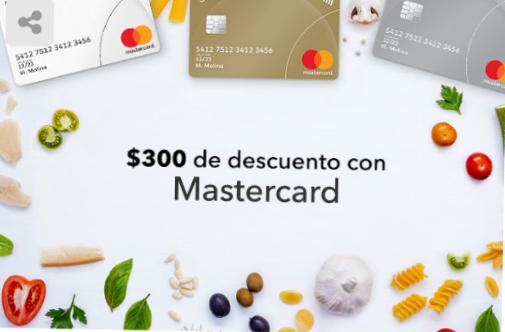 Cornershop: $300 de descuento en la primer compra con Mastercard