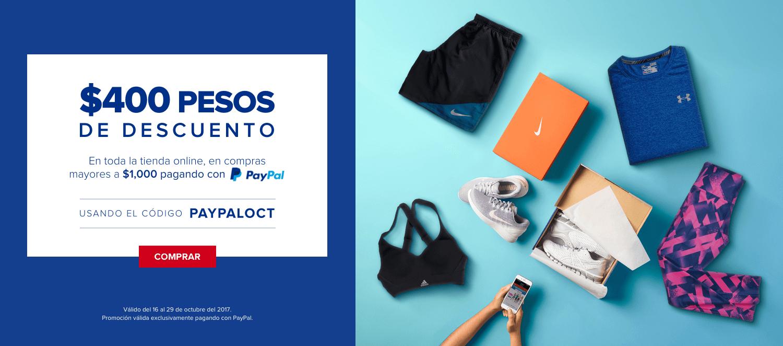 Innovasport: -400 pesos de descuento a partir de 1000 MXN con Paypal