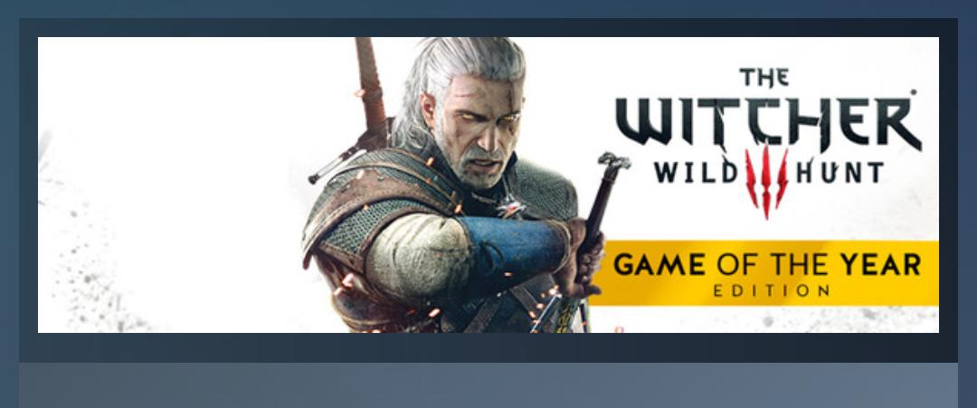 Steam: The Witcher 3 GOTY 60% de Descuento.